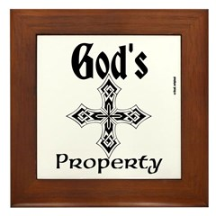 God's Property Framed Tile