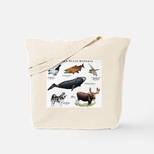 Alaska State Animals Tote Bag