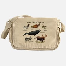 Alaska State Animals Messenger Bag
