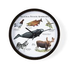 Alaska State Animals Wall Clock