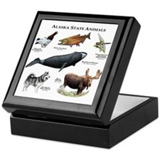 Alaska State Animals Keepsake Box