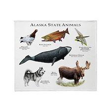 Alaska State Animals Throw Blanket