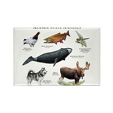 Alaska State Animals Rectangle Magnet