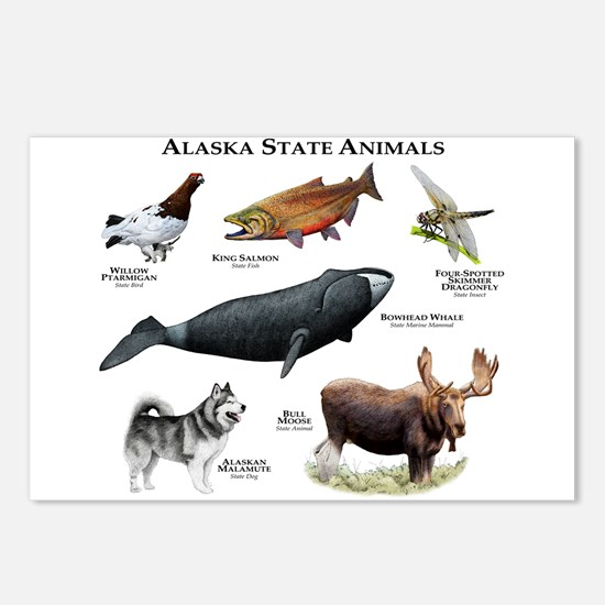 Alaska State Animals Postcards (Package of 8)