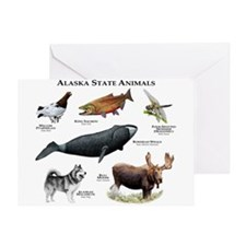 Alaska State Animals Greeting Card