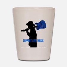 BLUES MAN - SUPPORT LIVE MUSIC Shot Glass