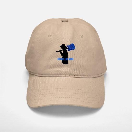 BLUES MAN - SUPPORT LIVE MUSIC Baseball Baseball Cap
