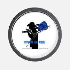 BLUES MAN - SUPPORT LIVE MUSIC Wall Clock