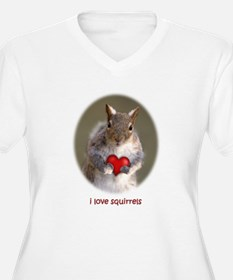 Cute Squirrel Lover Plus Size T-Shirt
