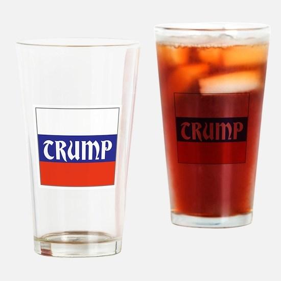 trump will make Russia great, Drinking Glass