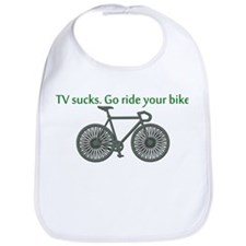 TV Sucks. Go Ride Your Bike! Bib