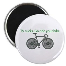 "TV Sucks. Go Ride Your Bike! 2.25"" Magnet (100 pac"