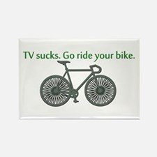 TV Sucks. Go Ride Your Bike! Rectangle Magnet