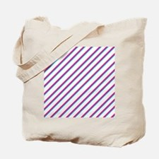 Aqua Pink White Diagnal.jpg Tote Bag
