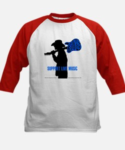 BLUES MAN - SUPPORT LIVE MUSIC Kids Baseball Jerse