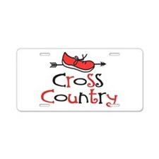Cross Country Shoe © Aluminum License Plate