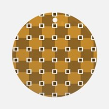 Brown Checkers.jpg Ornament (Round)