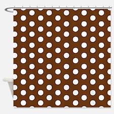 White Dots.jpg Shower Curtain