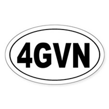 4GVN Forgiven Oval Stickers