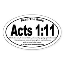 Acts 1:11 Oval Decal