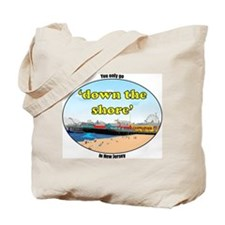 Down the shore boardwalk Tote Bag