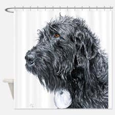 Black Labradoodle 4 Shower Curtain