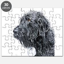 Black Labradoodle 4 Puzzle