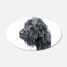 Black Labradoodle 4 Wall Decal