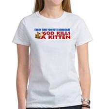 """God Kills A Kitten!"" Tee"