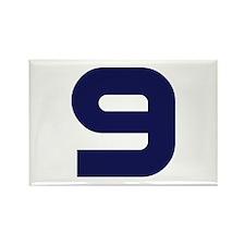 Number Nine 9 Rectangle Magnet