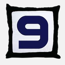 Number Nine 9 Throw Pillow