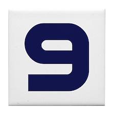 Number Nine 9 Tile Coaster