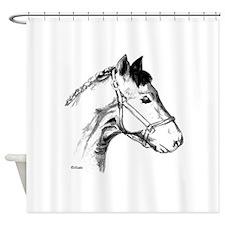 Funny Horses around.com Shower Curtain
