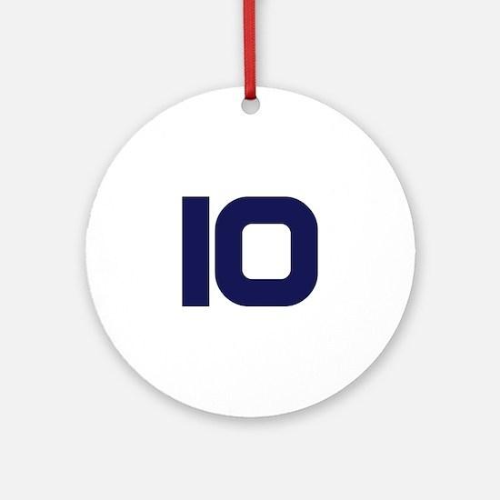Number Ten 10 Ornament (Round)
