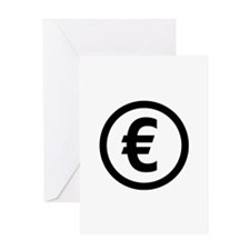 Euro symbol Greeting Card