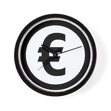 Euro symbol Wall Clock