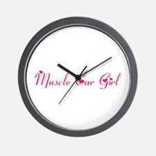 Muscle Car Girl Wall Clock