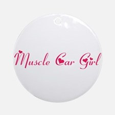 Muscle Car Girl Ornament (Round)