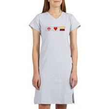 Peace, Love and Colombia Women's Nightshirt