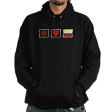 Peace, Love and Colombia Hoodie
