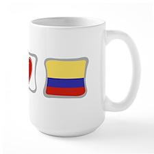 Peace, Love and Colombia Mug