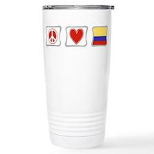 Peace, Love and Colombia Travel Mug