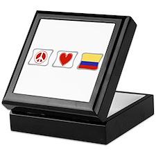 Peace, Love and Colombia Keepsake Box