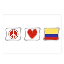 Peace, Love and Colombia Postcards (Package of 8)
