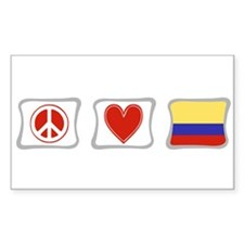 Peace, Love and Colombia Decal