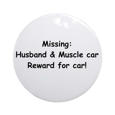 Husband And Muscle Car Reward For Car Ornament (Ro
