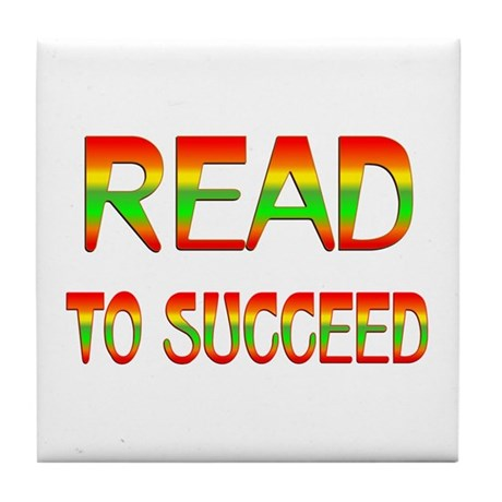 Read to Succeed Tile Coaster