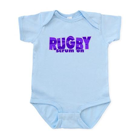 Girls Rugby Purple Infant Bodysuit