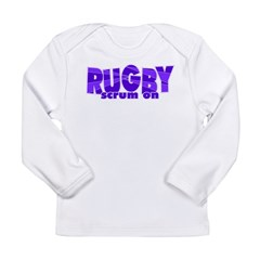 Girls Rugby Purple Long Sleeve Infant T-Shirt