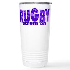 Girls Rugby Purple Thermos Mug